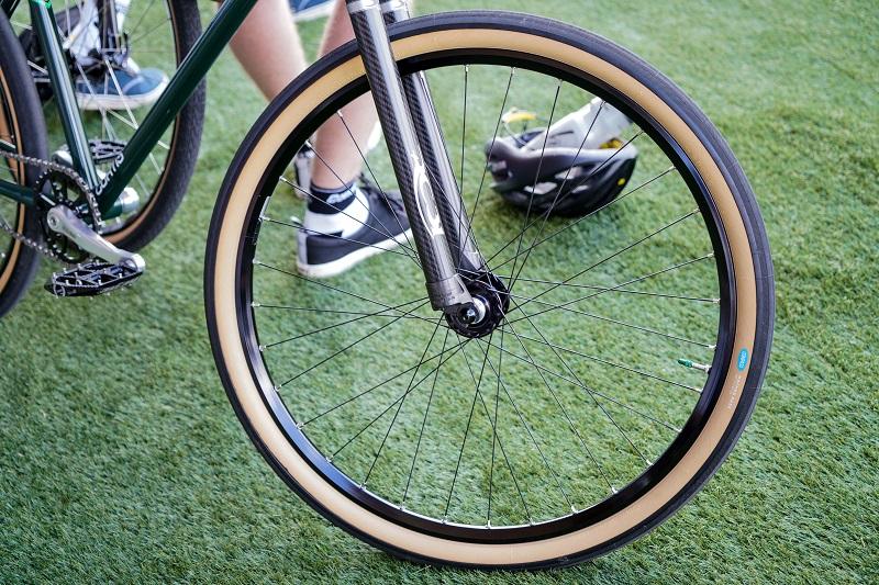 slag in fietswiel